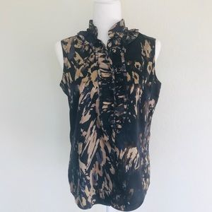 Tahari Sleeveless Blouse Size Small